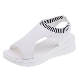 Women's Slingbacks Fabric Wedge Heel Sandals Platforms_1