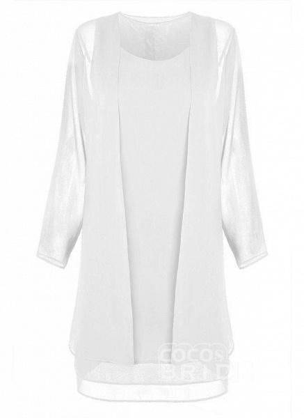 Purple Plus Size Tunic Solid Round Neckline Elegant Wrap Plus Dress_11