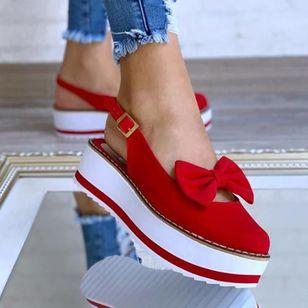 Women's Bowknot Buckle Slingbacks Wedge Heel Sandals_6