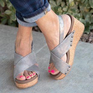 Women's Velcro Heels Wedge Heel Sandals_5