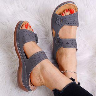 Women's Flower Slingbacks Flat Heel Sandals_5