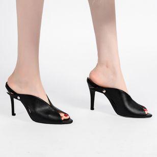 Women's Heels Leatherette Stiletto Heel Sandals_2