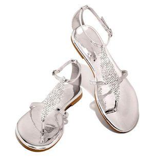 Women's Crystal Flip-Flops Flat Heel Sandals_6