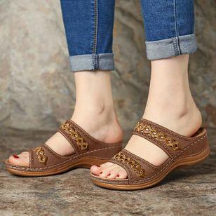 Women's Hollow-out Flats Low Heel Sandals_4