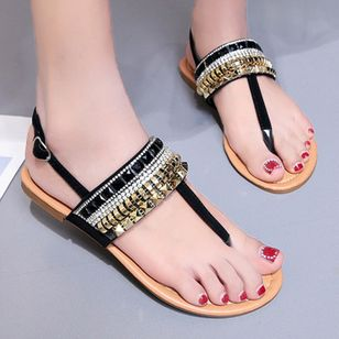 Women's Buckle Flats Slingbacks Flat Heel Sandals_2