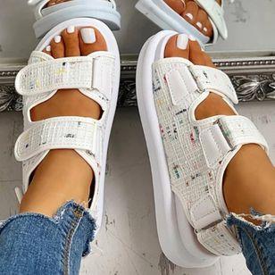 Women's Velcro Slingbacks Wedge Heel Sandals_2