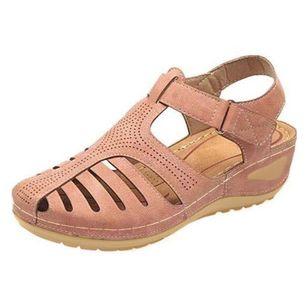Women's Buckle Flats Low Heel Sandals_6
