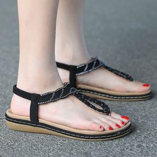 Women's Rhinestone Flip-Flops Flat Heel Sandals_3