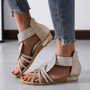 Women's Hollow-out Flats Flat Heel Sandals_4
