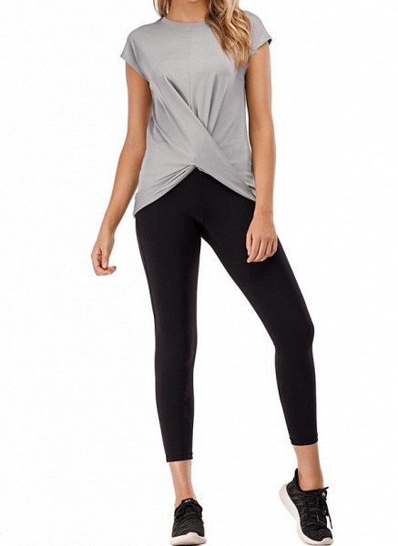 Women's Casual Polyester Fitness T-shirt Fitness & Yoga_4
