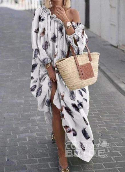 Black Plus Size Color Block Round Neckline Casual Maxi Shift Dress Plus Dress_3