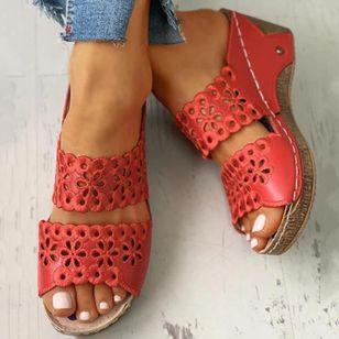 Women's Hollow-out Heels Wedge Heel Sandals_7