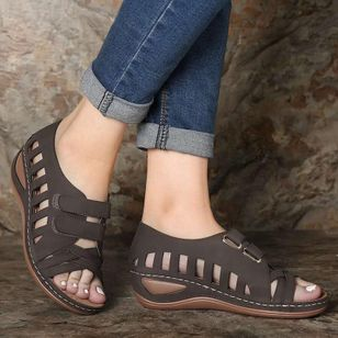 Women's Hollow-out Wedge Heel Sandals_4