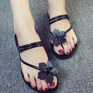 Women's Flower Flats Flat Heel Sandals_1