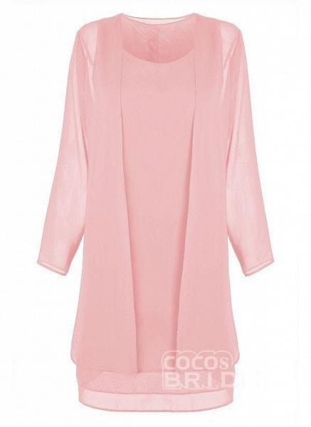 Purple Plus Size Tunic Solid Round Neckline Elegant Wrap Plus Dress_8