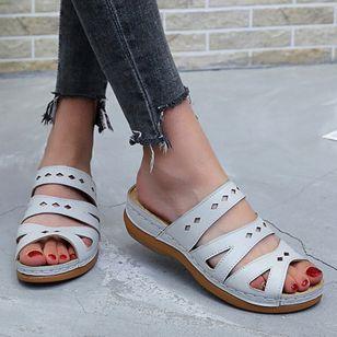 Women's Hollow-out Heels Wedge Heel Sandals_2