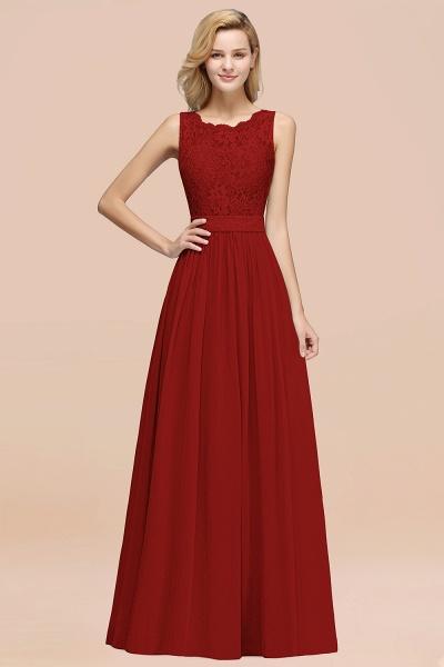 BM0834 Chiffon A-Line Lace Scalloped Sleeveless Long Ruffles Bridesmaid Dress_48