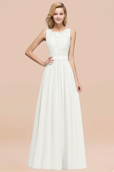 BM0834 Chiffon A-Line Lace Scalloped Sleeveless Long Ruffles Bridesmaid Dress_2