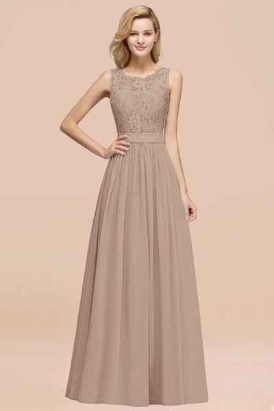 BM0834 Chiffon A-Line Lace Scalloped Sleeveless Long Ruffles Bridesmaid Dress_16