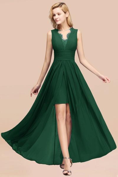 BM0835 Lace Chiffon Jewel Sleeveless Ruffles Short Bridesmaid Dress_31