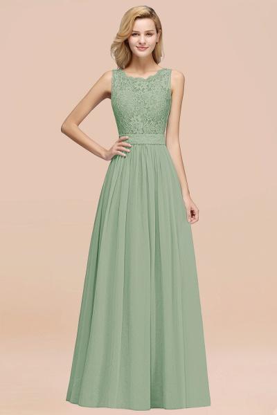 BM0834 Chiffon A-Line Lace Scalloped Sleeveless Long Ruffles Bridesmaid Dress_41