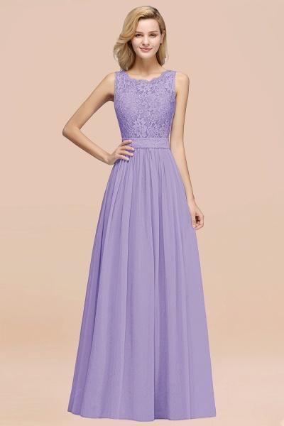 BM0834 Chiffon A-Line Lace Scalloped Sleeveless Long Ruffles Bridesmaid Dress_21