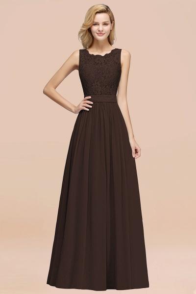 BM0834 Chiffon A-Line Lace Scalloped Sleeveless Long Ruffles Bridesmaid Dress_11