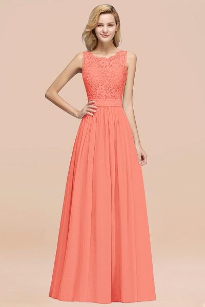 BM0834 Chiffon A-Line Lace Scalloped Sleeveless Long Ruffles Bridesmaid Dress_45