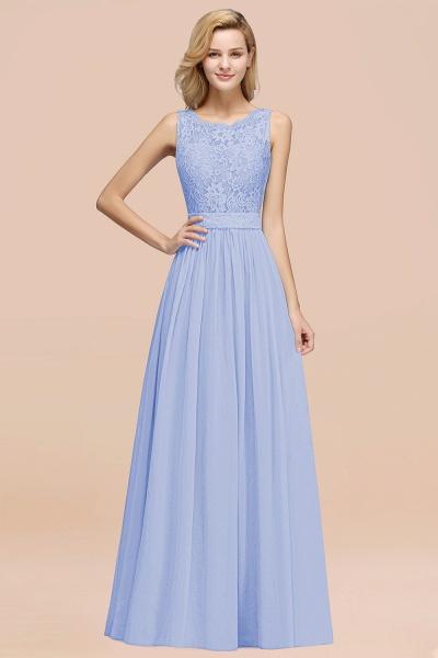 BM0834 Chiffon A-Line Lace Scalloped Sleeveless Long Ruffles Bridesmaid Dress_22