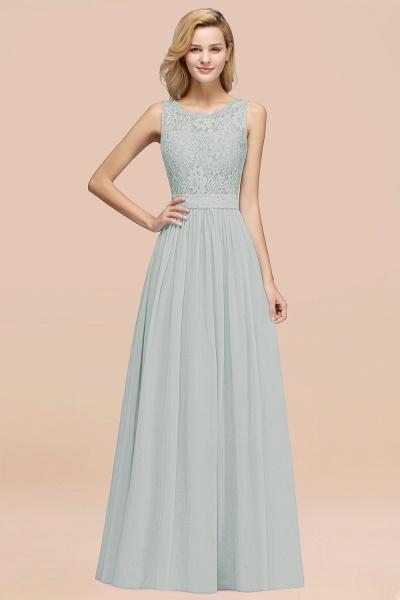 BM0834 Chiffon A-Line Lace Scalloped Sleeveless Long Ruffles Bridesmaid Dress_38