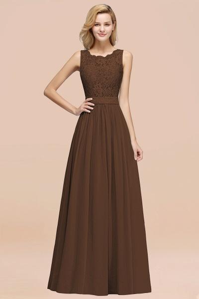BM0834 Chiffon A-Line Lace Scalloped Sleeveless Long Ruffles Bridesmaid Dress_12
