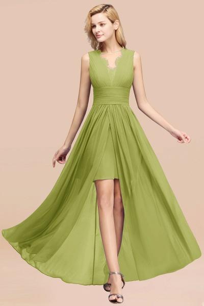 BM0835 Lace Chiffon Jewel Sleeveless Ruffles Short Bridesmaid Dress_34