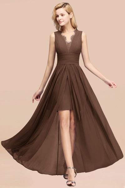 BM0835 Lace Chiffon Jewel Sleeveless Ruffles Short Bridesmaid Dress_12