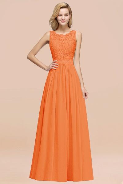BM0834 Chiffon A-Line Lace Scalloped Sleeveless Long Ruffles Bridesmaid Dress_15