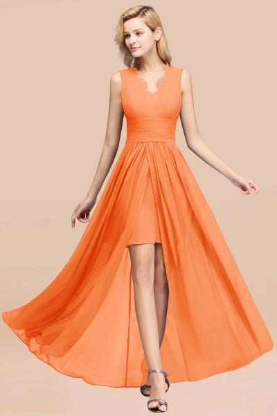 BM0835 Lace Chiffon Jewel Sleeveless Ruffles Short Bridesmaid Dress_15