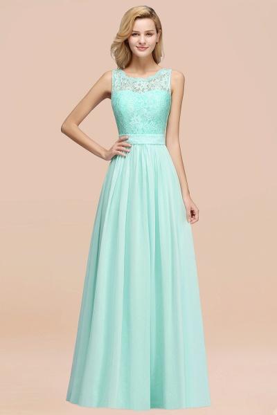 BM0834 Chiffon A-Line Lace Scalloped Sleeveless Long Ruffles Bridesmaid Dress_36