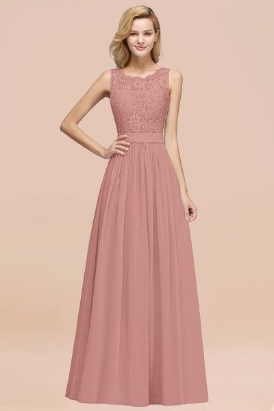 BM0834 Chiffon A-Line Lace Scalloped Sleeveless Long Ruffles Bridesmaid Dress_50