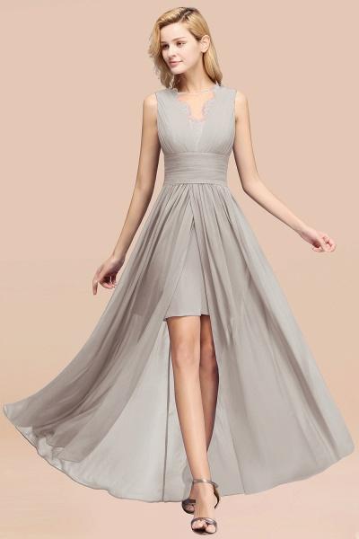 BM0835 Lace Chiffon Jewel Sleeveless Ruffles Short Bridesmaid Dress_30