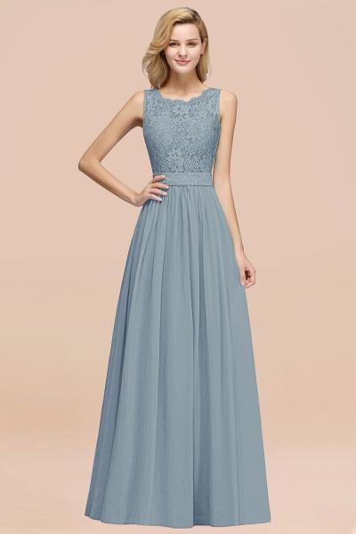 BM0834 Chiffon A-Line Lace Scalloped Sleeveless Long Ruffles Bridesmaid Dress_40