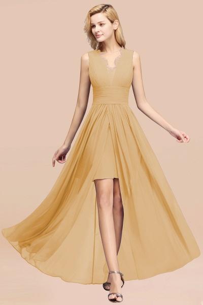 BM0835 Lace Chiffon Jewel Sleeveless Ruffles Short Bridesmaid Dress_13