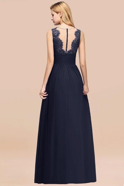 BM0835 Lace Chiffon Jewel Sleeveless Ruffles Short Bridesmaid Dress_52