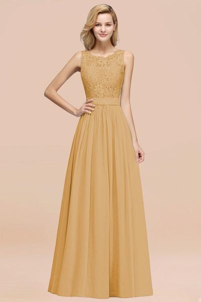 BM0834 Chiffon A-Line Lace Scalloped Sleeveless Long Ruffles Bridesmaid Dress_13