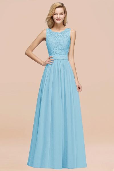 BM0834 Chiffon A-Line Lace Scalloped Sleeveless Long Ruffles Bridesmaid Dress_23
