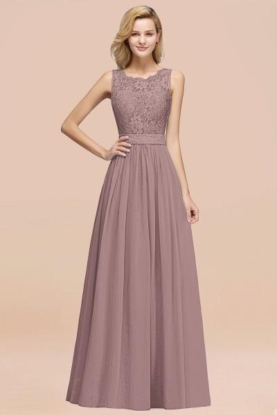 BM0834 Chiffon A-Line Lace Scalloped Sleeveless Long Ruffles Bridesmaid Dress_37