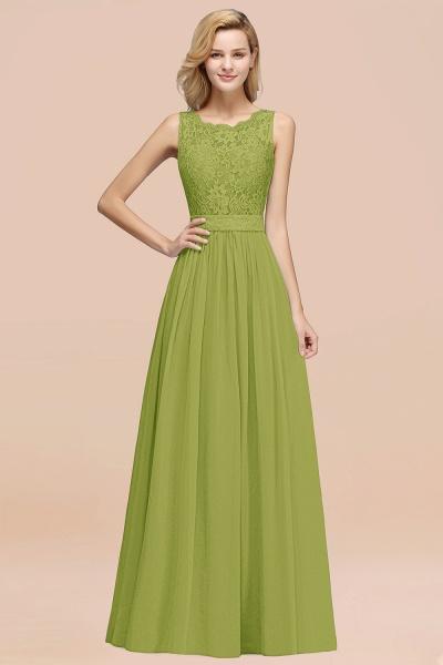 BM0834 Chiffon A-Line Lace Scalloped Sleeveless Long Ruffles Bridesmaid Dress_34