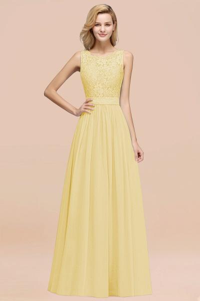 BM0834 Chiffon A-Line Lace Scalloped Sleeveless Long Ruffles Bridesmaid Dress_18