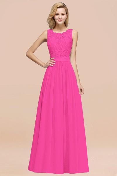BM0834 Chiffon A-Line Lace Scalloped Sleeveless Long Ruffles Bridesmaid Dress_9