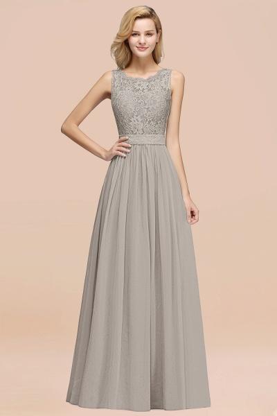 BM0834 Chiffon A-Line Lace Scalloped Sleeveless Long Ruffles Bridesmaid Dress_30