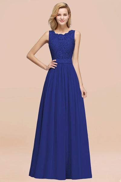 BM0834 Chiffon A-Line Lace Scalloped Sleeveless Long Ruffles Bridesmaid Dress_26