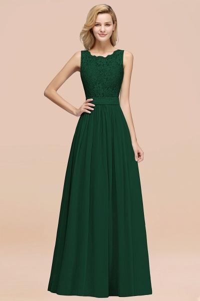 BM0834 Chiffon A-Line Lace Scalloped Sleeveless Long Ruffles Bridesmaid Dress_31
